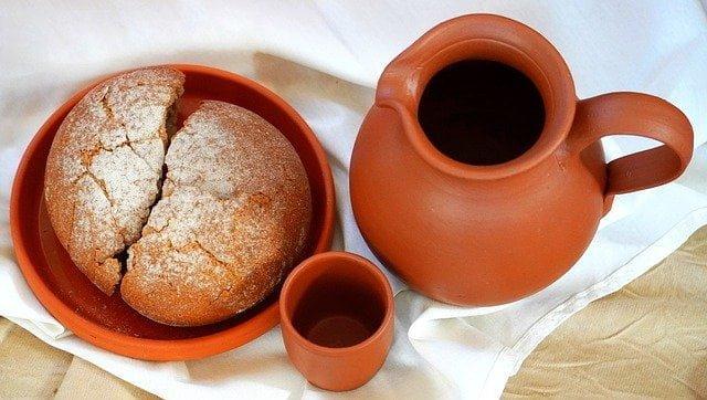 Avondmaal brood en wijn